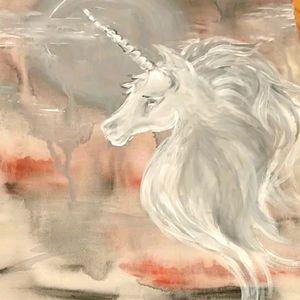 🇨🇦Hand Painted 'Unicorn Arora' Acrylic on Canvas